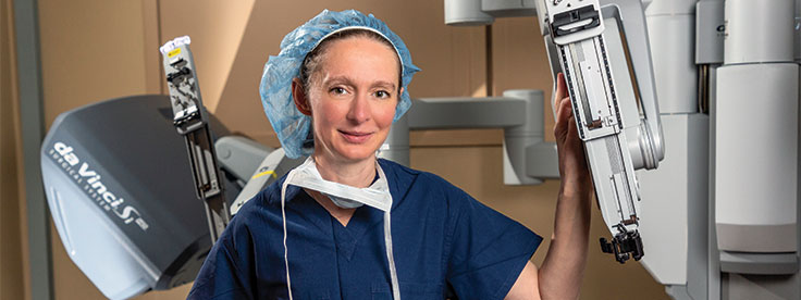 Anna Serur, MD, chief of colorectal surgery.