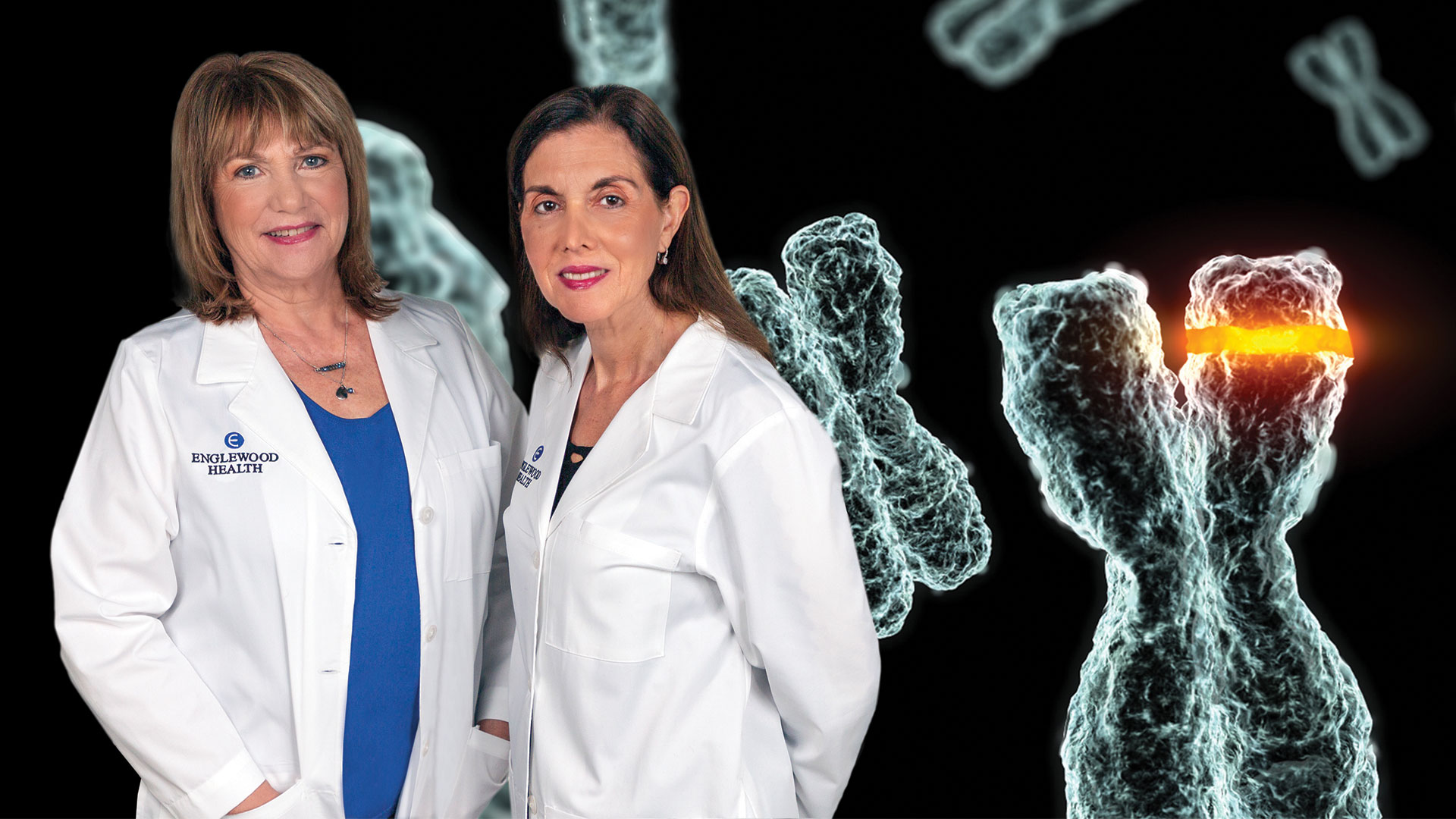 Patricia Mazzola, APNG, and Rosalyn Stahl, MD, associate chief of pathology.